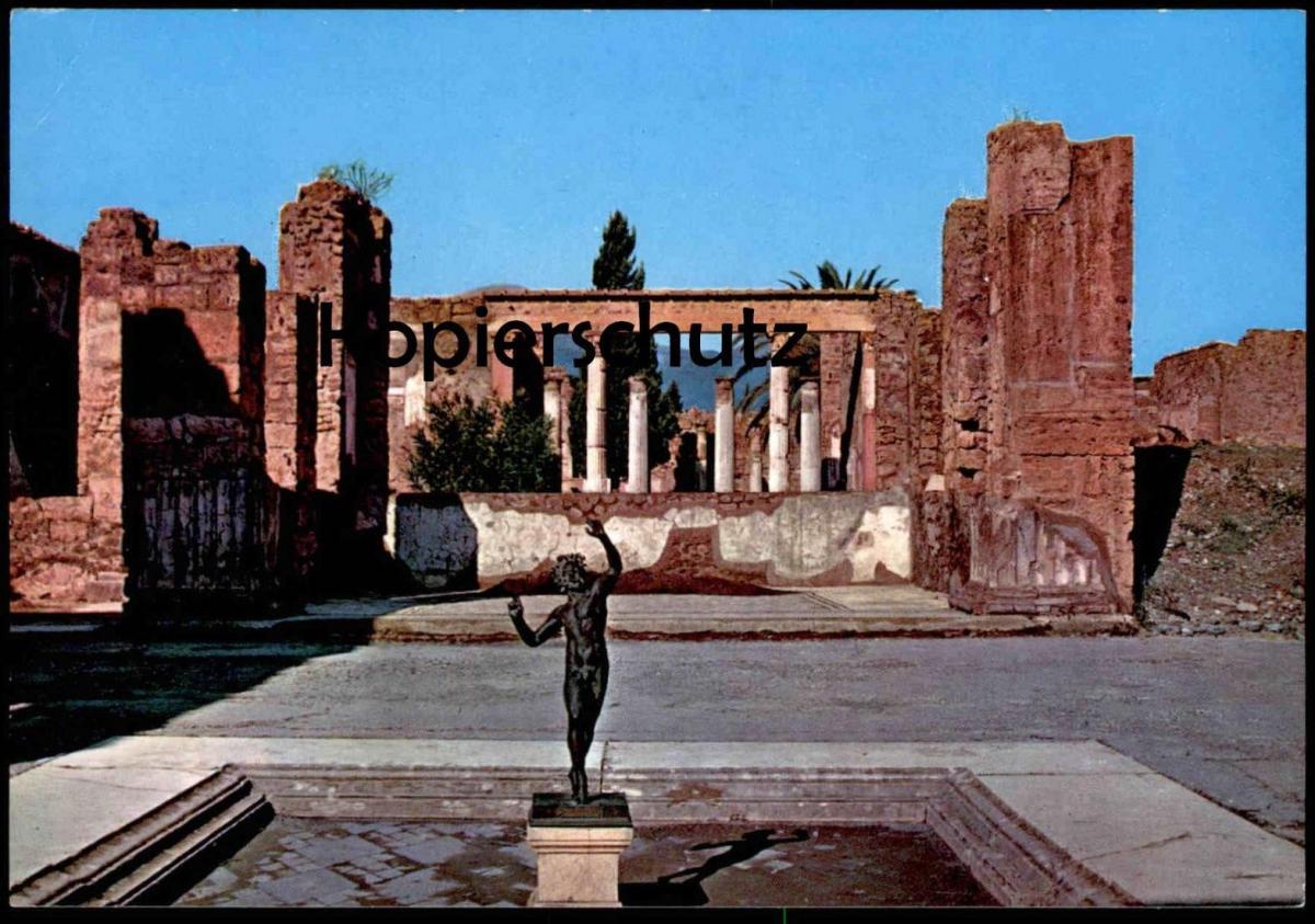 ÄLTERE POSTKARTE POMPEI SCAVI CASA DEL FAUNO ATRIO Denkmal monument Napoli Italien Italia italy postcard cpa