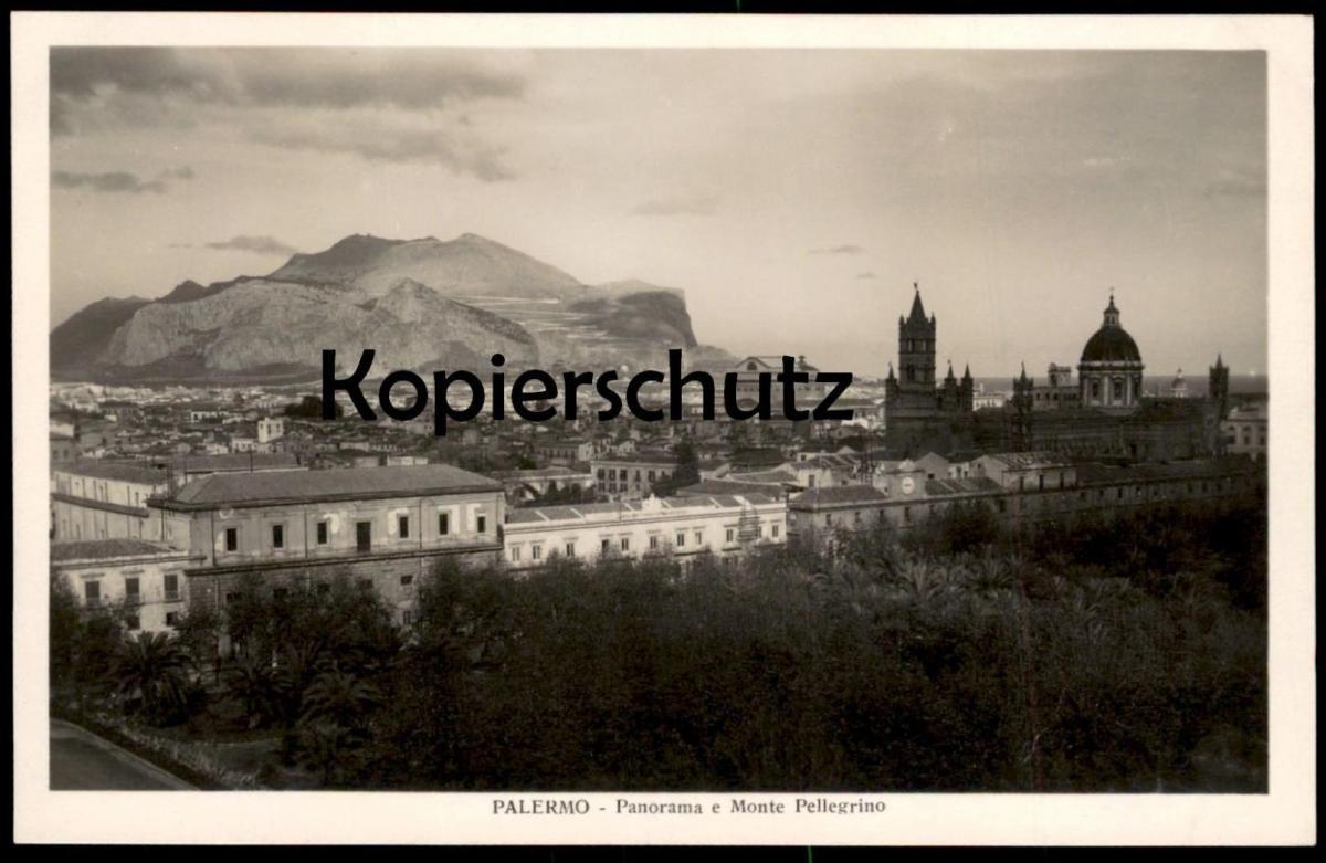 ALTE POSTKARTE PALERMO PANORAMA E MONTE PELLEGRINO Italien Italia Italy cpa postcard AK Ansichtskarte