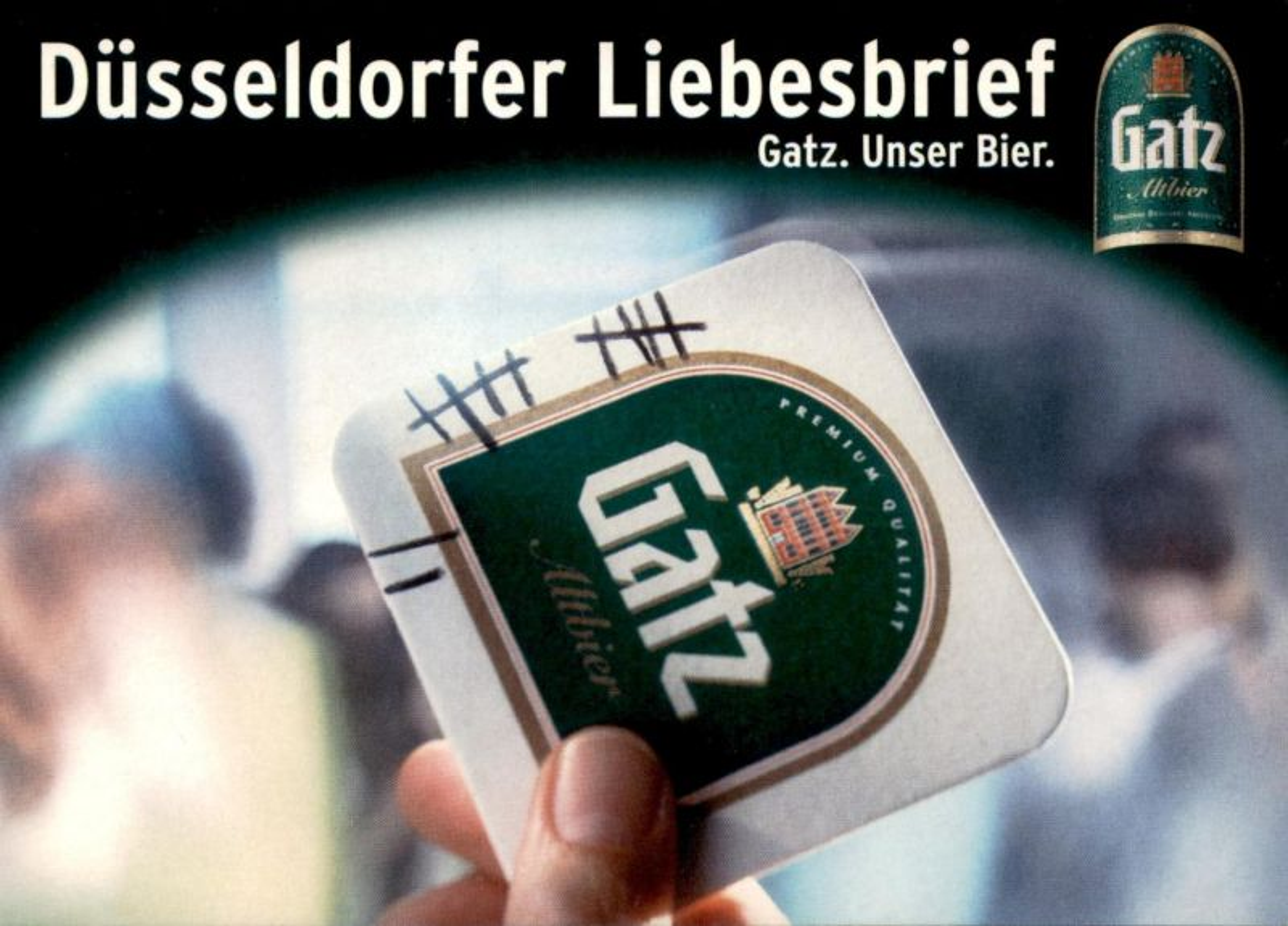 POSTKARTE DÜSSELDORFER LIEBESBRIEF BIER GATZ ALT ALKOHOL DÜSSELDORF beer alcohol bière alcool Ansichtskarte postcard cpa