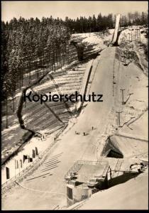 ÄLTERE POSTKARTE GROSSE ASCHBERG-SCHANZE KLINGENTHAL Skischanze ski jumping flying Ansichtskarte postcard cpa