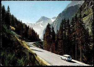 ÄLTERE POSTKARTE FELBERTAUERNSTRASSE NORDRAMPE VW 1500 OSTALPEN Pass Strasse strada Ansichtskarte postcard cpa