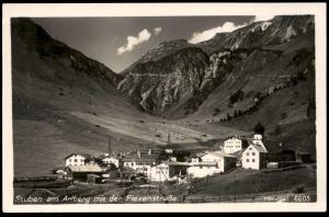 ALTE POSTKARTE STUBEN AM ARLBERG MIT DER FLEXENSTRASSE Klösterle Kloesterle Austria Autriche cpa postcard Ansichtskarte