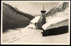ALTE POSTKARTE STUBEN AM ARLBERG KIRCHE Klösterle Kloesterle Austria Autriche Winter hiver snow neige cpa postcard AK
