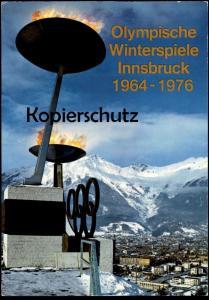 AK INNSBRUCK OLYMPISCHE WINTERSPIELE 1964 - 1976 Olympiade Olympia Olympiades olympique Olympisches Feuer Winterspiele
