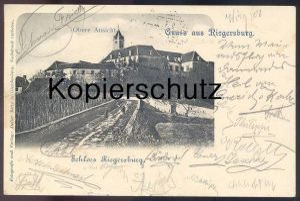ALTE POSTKARTE GRUSS AUS RIEGERSBURG STEIERMARK 1901 SCHLOSS OBERE ANSICHT HOCHSCHLOSS KRONECK Burg chateau castle cpa