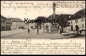 ALTE POSTKARTE PULKAU NIEDER-ÖSTERREICH BÄCKEREI CARL POLZIS sowie Geschäft Josef ... Ansichtskarte postcard cpa AK
