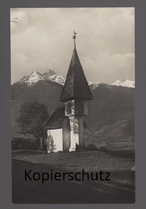 ALTE POSTKARTE KREUZBICHL GEGEN ZUNNIGSPITZE MATREI IN OSTTIROL Kapelle chapel Ansichtskarte cpa postcard AK