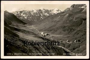 ALTE POSTKARTE ZÜRS A. ARLBERG 1720 M MIT FLEXENPASS VORARLBERG Risch-Lau cpa postcard AK Ansichtskarte