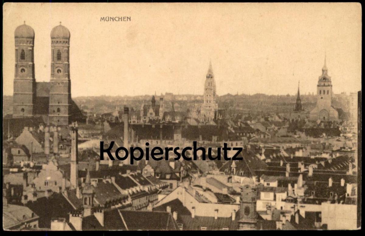 ALTE POSTKARTE MÜNCHEN FRAUENKIRCHE TOTALANSICHT Total Gesamtansicht Munich Ansichtskarte postcard pca AK