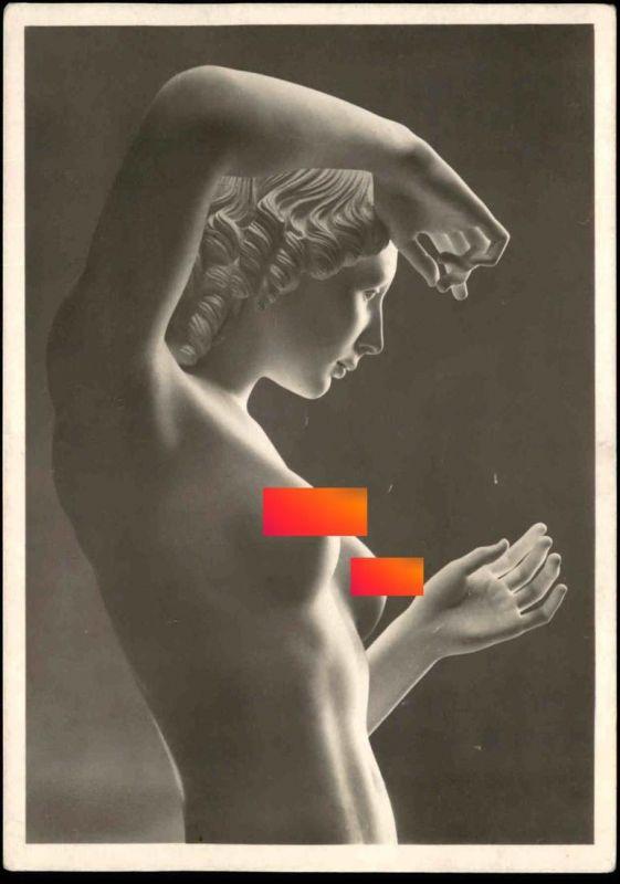 ALTE POSTKARTE ARNO BREKER FLORA NACKTER AKT Brust seins nus nude breast woman girl femme nue postcard cpa Ansichtskarte