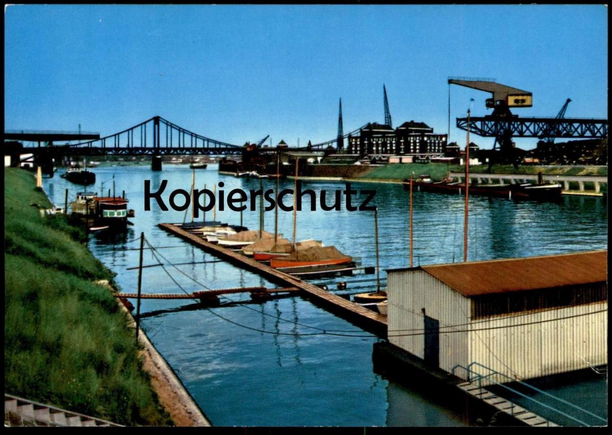 ÄLTERE POSTKARTE KREFELD UERDINGEN RHEINHAFEN HAFEN harbour harbor port Ansichtskarte cpa AK postcard