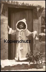ALTE POSTKARTE BONNE ANNÉE NEUJAHR KIND Nikolaus-Gewand Christkind child enfant Pelz ZED 344 cpa postcard Ansichtskarte