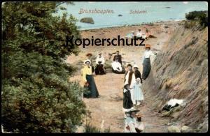 ALTE POSTKARTE OSTSEEBAD BRUNSHAUPTEN SCHLUCHT Frauen Strand Kühlungsborn cpa AK Ansichtskarte postcard