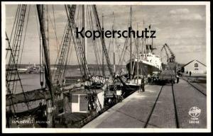 ALTE POSTKARTE SUNDSVALL HAMNEN Waggon Eisenbahn Sverige Hafen Schweden Schiffe port harbour Ansichtskarte postcard cpa