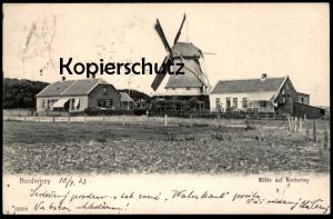 ALTE POSTKARTE MÜHLE AUF NORDERNEY WINDMÜHLE Mill Moulin Windmill Molen Ansichtskarte cpa postcard AK