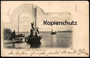 ALTE POSTKARTE PARTHIE AM JAMUNDER SEE JAMNO 1902 Partie Nest Uniescie Koeslin Coeslin Koszalin Ansichtskarte postcard