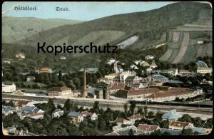 ALTE POSTKARTE HÜTTELDORF TOTALE Total Gesamtansicht Panorama Wien XIII AK cpa postcard Ansichtskarte