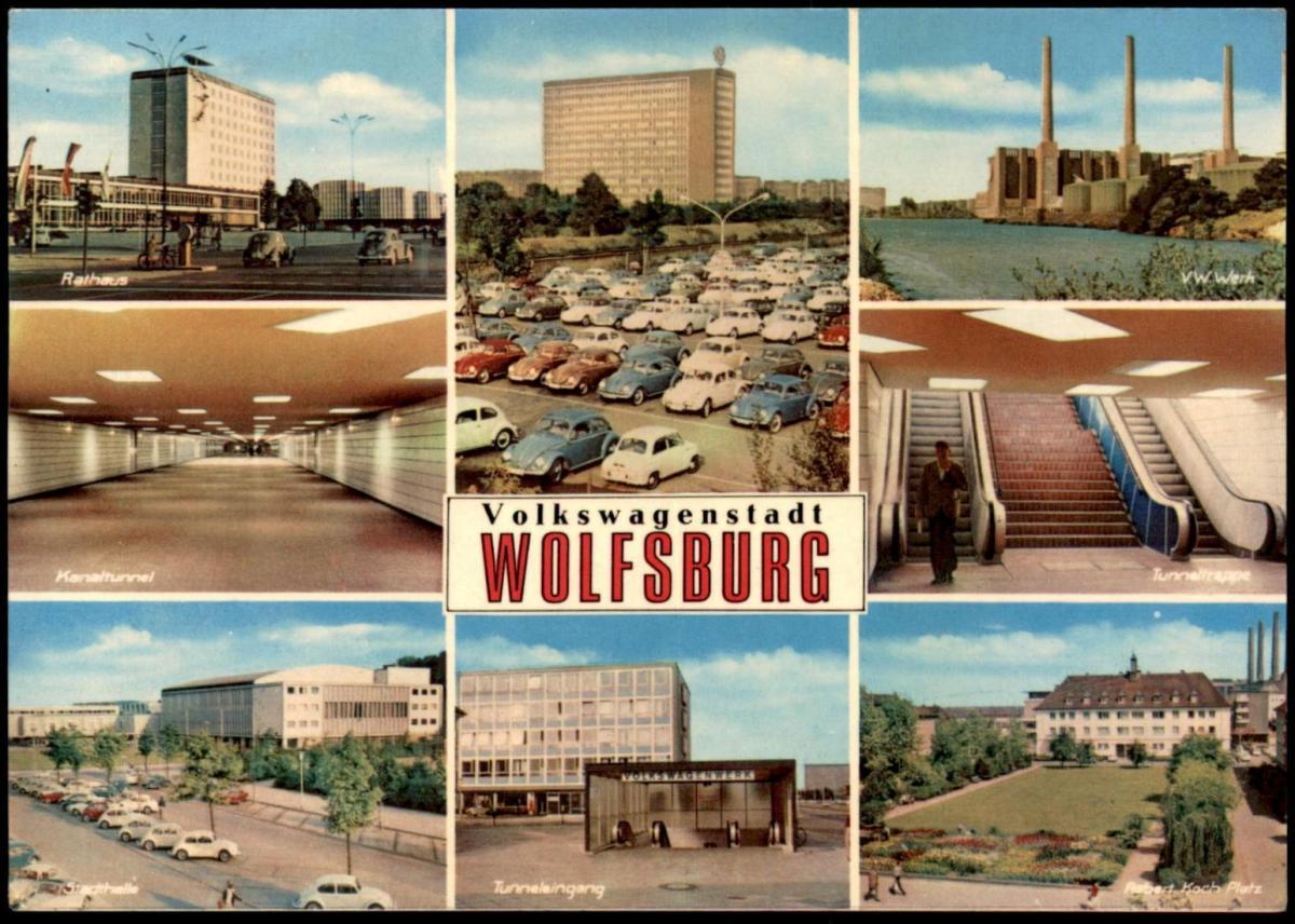 ÄLTERE POSTKARTE VOLKSWAGENSTADT WOLFSBURG VOLKSWAGEN FABRIK Factory Fabrique VW WERK Käfer Beetle Coccinelle 0
