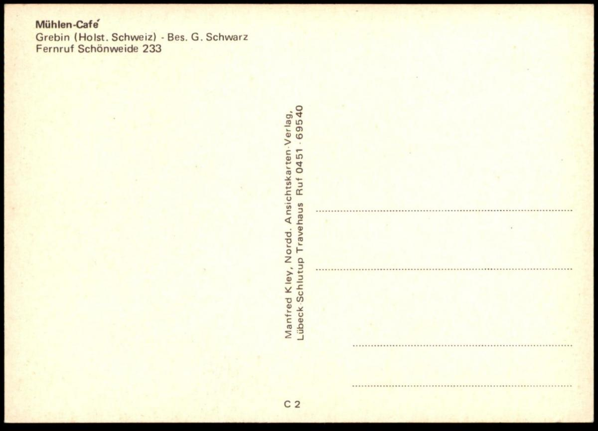 ÄLTERE POSTKARTE MÜHLEN-CAFÉ GREBIN WINDMÜHLE Mill Moulin Windmill Molen Ansichtskarte cpa postcard AK 1