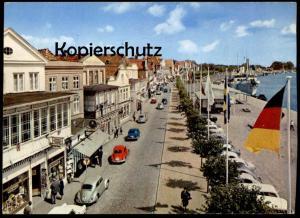 ÄLTERE POSTKARTE TRAVEMÜNDE VORDERREIHE AUTOS VW KÄFER Volkswagen Auto car  Ansichtskarte AK postcard cpa