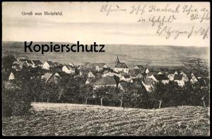 ALTE POSTKARTE GRUSS AUS HOLZFELD BEI HIRZENACH TOTALANSICHT KREIS ST. GOAR BOPPARD Verfasser Josef Karbach Anichtskarte