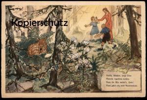 ALTE POSTKARTE REICHSSTELLE FÜR NATURSCHUTZ Tierschutz Reh Hase Tiere Tier animal animals AK Ansichtskarte cpa postcard