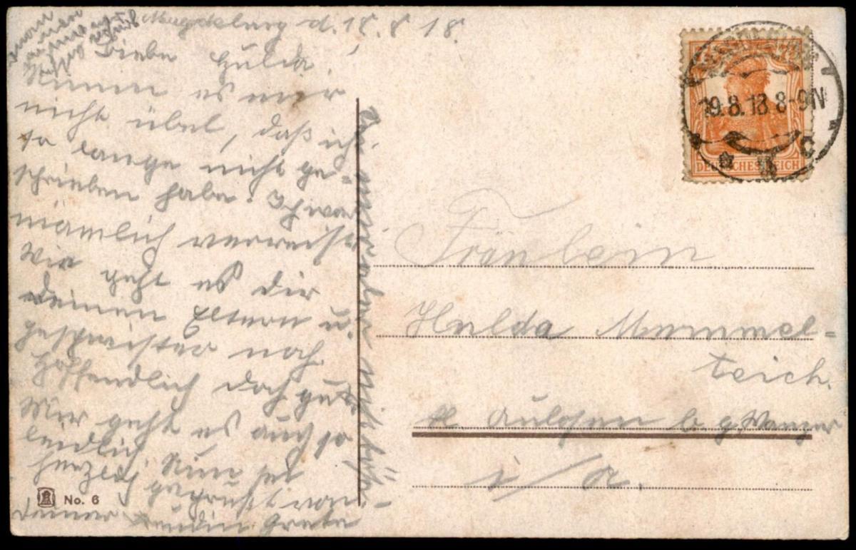 ALTE POSTKARTE MAGDEBURG BAHNHOF 1918 mit Verkaufsstand Strassenbahn station gare Ansichtskarte postcard cpa AK 1
