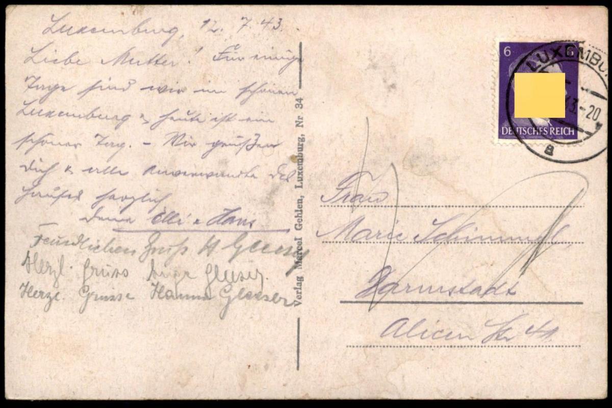 ALTE POSTKARTE LUXEMBURG 1943 GRUND LUXEMBOURG Verlag Gehlen cpa postcard Ansichtskarte AK 1