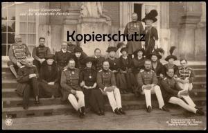 ALTE POSTKARTE KAISER WILHELM UNSER KAISERPAAR UND DIE KAISERLICHE FAMILIE Prinz emperors family Ansichtskarte postcard