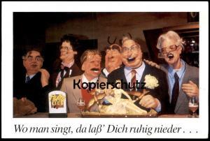 POSTKARTE HURRA DEUTSCHLAND TV SATIRE SHOW Gorbatschow Süssmuth Waigel Helmut Kohl Hans Jochen Vogel Politiker Politik