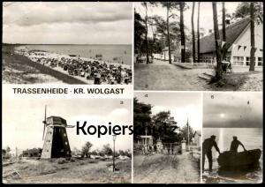 ÄLTERE POSTKARTE TRASSENHEIDE KREIS WOLGAST MÜHLE ZELTLAGER WINDMÜHLE Mill Moulin Windmill Molen Ansichtskarte postcard