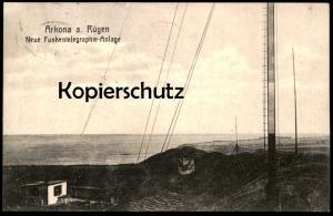 ALTE POSTKARTE NEUE FUNKENTELEGRAPHIE-ANLAGE ARKONA INSEL RÜGEN Funker Funk Funkturm radio mast Ansichtskarte postcard