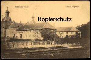 ALTE POSTKARTE MÜLHEIM RUHR SCHLOSS HUGENPOT BAHNLINIE Eisenbahn Essen Kettwig castle chateau Ansichtskarte AK postcard