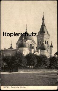 ALTE POSTKARTE MITAU LETTLAND RUSSISCHE KIRCHE Jelgava russian church Latvia Latvija Ansichtskarte AK postcard cpa
