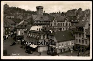 ALTE POSTKARTE GREIZ IN THÜRINGEN 1944 KOSA RATSSTÜBL PERSIL WERBUNG Ansichtskarte cpa postcard AK