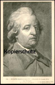 ALTE POSTKARTE MUSÉE CARNAVALET PORTRAIT DE LOUIS XVI AU TEMPLE AK postcard cpa Ansichtskarte