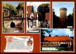 POSTKARTE TECKLENBURG WAPPEN & GESCHICHTE CHRONIK Chronikkarte chronique chronicle storycard postcard cpa Ansichtskarte