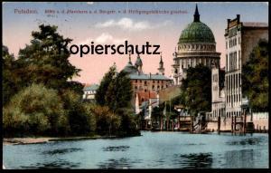 ALTE POSTKARTE POTSDAM BLICK AUF DEN HAVELARM A. D. BURGSTRASSE V. D. HEILIGENGEISTKIRCHE Ansichtskarte cpa postcard AK