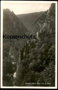 ALTE POSTKARTE BODETAL IM HARZ BLICK VOM BODETOR Bode Thale Ansichtskarte cpa AK postcard