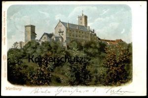 ALTE POSTKARTE EISENACH DIE WARTBURG 1902 Burg Schloss chateau castle Autochrom Louis Glaser Ansichtskarte postcard cpa