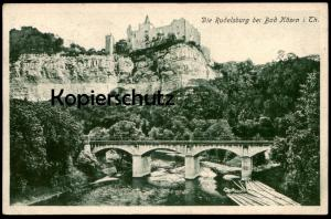 ALTE POSTKARTE DIE RUDELSBURG BEI BAD KÖSEN IN THÜRINGEN Boote Holz Langholz Ansichtskarte postcard cpa AK