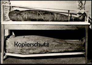 ÄLTERE POSTKARTE KAISERSWERTH DIAKONIEWERK MUSEUM ÄGYPTISCHE MUMIE mummy momie DÜSSELDORF cpa postcard Ansichtskarte AK