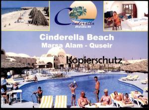 ÄLTERE POSTKARTE MARSA ALAM QUSEIR CINDERELLA BEACH Cinderalla Red Sea Egypt Ägypten l'egypte Ansichtskarte postcard cpa