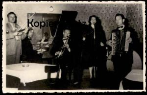 ALTE FOTO KAMMERORCHESTER GEIGE SAXOPHON AKKORDEON accordion accordéon Musik violin violon sax saxo photo