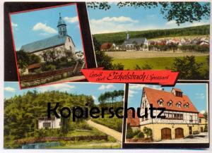 ÄLTERE POSTKARTE GRUSS AUS EICHELSBACH SPESSART PENSION ZUR SCHÖNEN AUSSICHT KOLB Elsenfeld Ansichtskarte postcard cpa