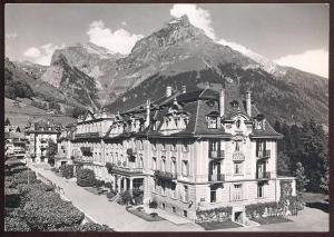 ALTE WERBE-KARTE PARK HOTEL TITLIS Engelberg Schweiz Suisse postcard cpa