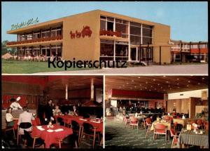 ÄLTERE POSTKARTE ALMELO POSTILJON HOTEL RUIME BENZINE SERVICE STATION COIFFEUR GRILLROOM KOCH Ansichtskarte postcard cpa