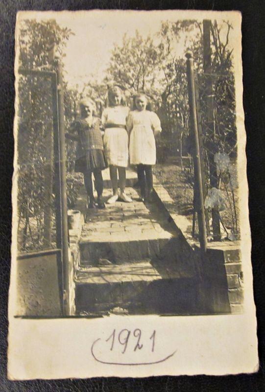 Alte Foto Karte 1921 Kinder Mädchen Freundin Raum Erlangen - Coburg