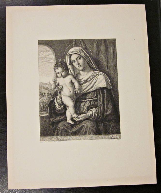 Original Kupferstich / Zeichnung CIMA DA CONEGLIANO von J. Eissenhardt