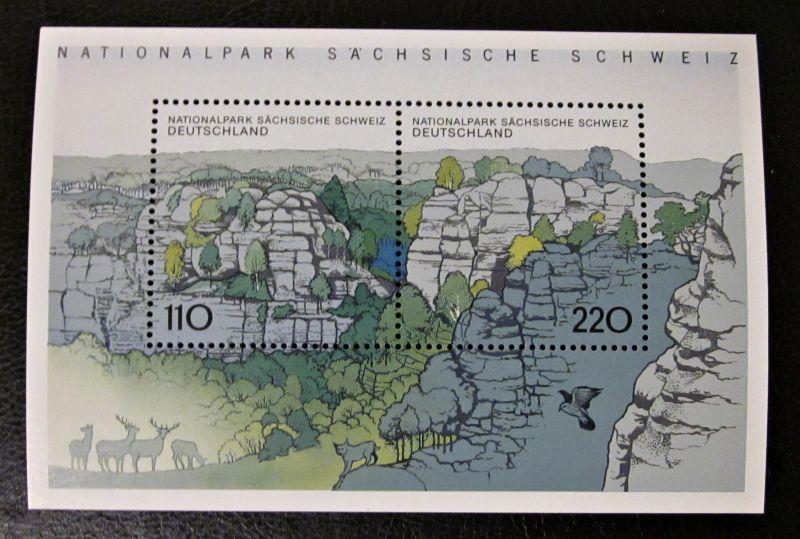 Briefmarken BRD Deutschland 1998 Block 44 Sächsische Schweiz